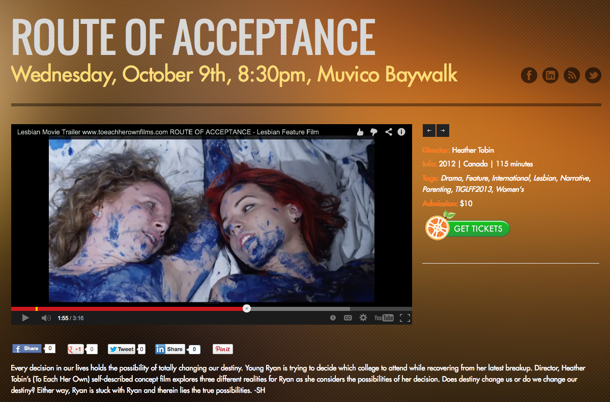 Tampa International Gay & Lesbian Film Festival (USA) -830pm Wednesday October 9:2013